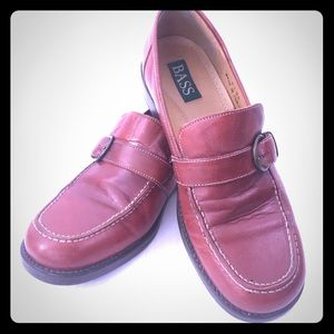 Bass Leather Loafers 7M Decorative Buckle Ladies